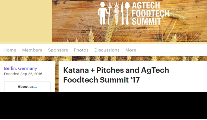 KATANA + Pitches and AgTech FoodTech Summit '17 @INFARM Berlin